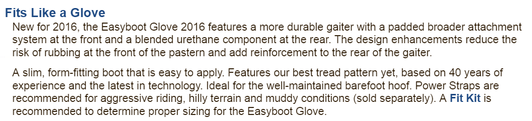 New Glove info